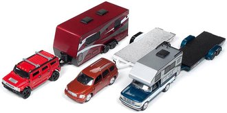 Johnny Lightning 1:64 Truck & Trailer Series Release 3B (Set of 3)