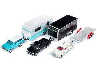 Johnny Lightning 1:64 Truck & Trailer Series - Release 4A (Set of 3)