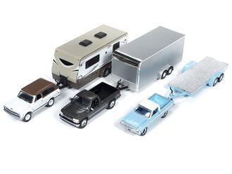 Johnny Lightning 1:64 Truck & Trailer Series - Release 4B (Set of 3)