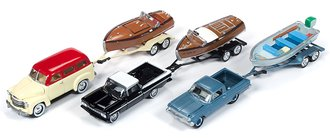 Johnny Lightning 1:64 Truck & Trailer Series 2019 Release 1A (Set of 3)