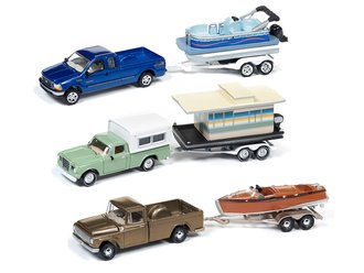 Johnny Lightning 1:64 Hulls & Haulers Series 2019 Release 2A (Set of 3)