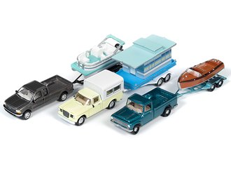 Johnny Lightning 1:64 Hulls & Haulers Series 2019 Release 2B (Set of 3)