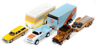 1:64 Johnny Lightning Truck & Trailer 2020 Release 1A (Set of 3)