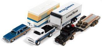 1:64 Johnny Lightning Truck & Trailer 2020 Release 1B (Set of 3)