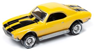 1:64 Topper Custom Camaro (Bright Yellow Pearl w/Black Stripes)