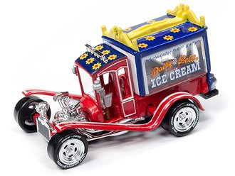 1:64 George Barris Ice Cream Truck (Persimmon Red Pearl)