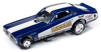 1:64 Hawaiian 1970's Dodge Charger Funny Car (Deep Metallic Blue w/1971 Graphics)