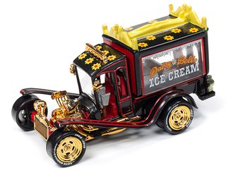 1:64 George Barris Ice Cream Truck (Gloss Black w/Gold Chrome)