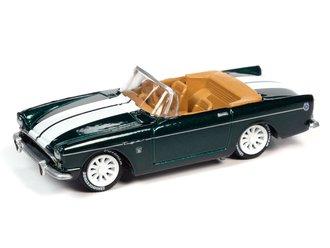 1:64 1965 Sunbeam Tiger (Metallic Dark Green w/White Stripes)