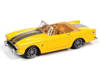 1:64 1965 Sunbeam Tiger (Gloss Yellow & Silver Stripes)