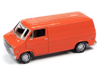 1:64 1976 Dodge Tradesman Van (Gloss Red-Orange)