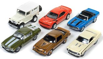 Johnny Lightning 1:64 Classic Gold Series, Release 12A (Set of 6)