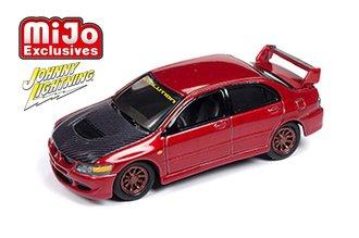 1:64 2004 Mitsubishi Lancer Evolution Custom - Import Heat (Red/Carbon)