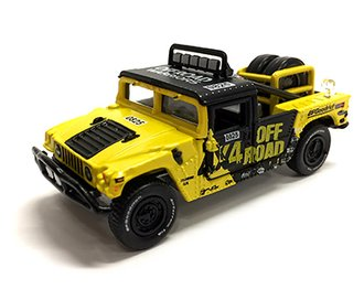 1:64 Off-Road - Hummer H1 Race Truck (Yellow/Black)