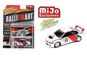 1:64 2004 Mitsubishi Lancer Evolution - Import Heat - RalliArt (White)