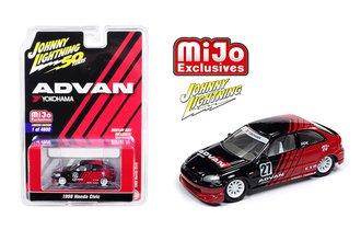 1:64 50th Anniversary - Advan Yokohama - 1998 Honda Civic (Black/Red)