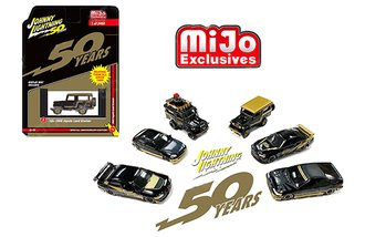 1:64 50th Anniversary - Import Cars (Black/Gold) (Set of 6)