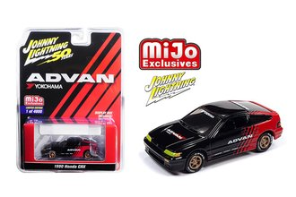 1:64 50th Anniversary - Advan Yokohama - 1990 Honda CRX (Black/Red)