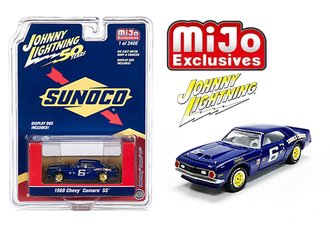 "1:64 1968 Chevrolet Camaro SS ""Sunoco Racing #6"" (Blue)"