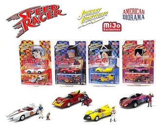 1:64 Speed Racer Assortment w/American Diorama Figures (Case of 24)