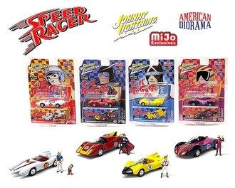 1:64 Speed Racer Assortment w/American Diorama Figures (Set of 4)