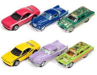1:64 Johnny Lightning Collector Tin Assortment - 2021 Release 1 (Set of 6)