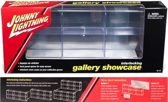 1:64 Johnny Lightning 6-Car Interlocking Display Case