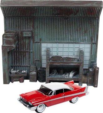 1:64 Christine® 1958 Plymouth Diorama Façade (Includes Darnell's Garage Interior)
