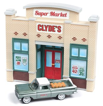 1:64 Store Front Façade w/1959 Chevy El Camino