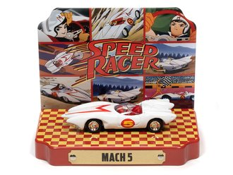 1:64 Speed Racer Mach 5 w/Tin (White w/Mach 5 Graphics)