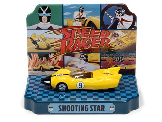 1:64 Racer X Shooting Star w/Tin (Yellow w/Shooting Star Graphics)