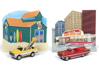 Johnny Lightning 1:64 Diorama Series, Release 5 (Set of 2)