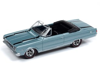 "1967 Plymouth GTX Convertible ""Cars N Coffee"" (Light Blue Poly w/Black Hood & Trunk Stripes)"