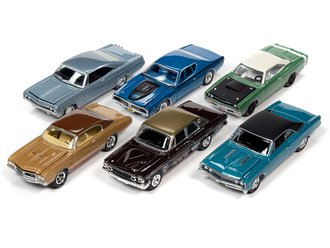 1:64 Johnny Lightning Muscle Cars USA - 2021 Release 1A (Set of 6)