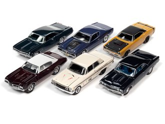 1:64 Johnny Lightning Muscle Cars USA - 2021 Release 1B (Set of 6)