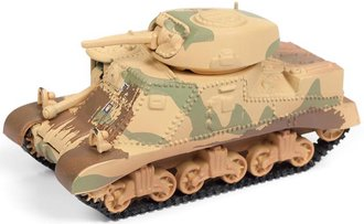 1:100 WWII M3 Grant Tank (Dirty) (Khaki w/Green Camouflage)