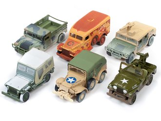 1:64 Johnny Lightning Military 'Wheeled Warriors' 2019 Release 2B (Set of 6)