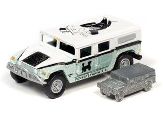 1:64 Monopoly 2004 Hummer H1 (Light Green/White)