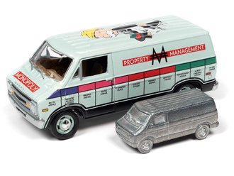 Monopoly 1977 Dodge Van w/Token (Lime Green Poly)