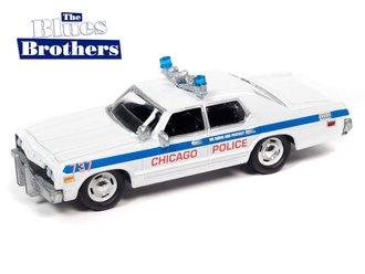 "1:64 1975 Dodge Monaco Chicago Police Dept ""Blues Brothers"" (White/Blue)"