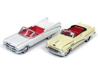 1959 Cadillac Eldorado (White) & 1953 Buick Super (Cream) Convertibles