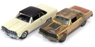 "1:64 1965 Chevelle Malibu Z-16 ""MCACN"" (Crocus Yellow/Flat Black - Restored) & (Unrestored Version)"
