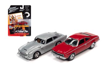 "James Bond 1974 AMC Hornet ""The Man With The Golden Gun"" & Aston Martin DB5 ""Golden Eye"""