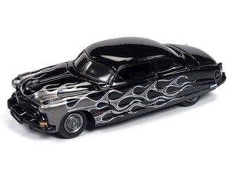 1:64 1951 Hudson Hornet (Gloss Black w/Silver Flames)
