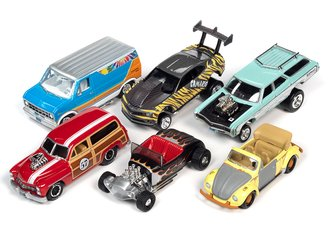 1:64 Johnny Lightning Street Freaks - 2021 Release 2A (Set of 6)