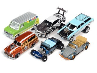 1:64 Johnny Lightning Street Freaks - 2021 Release 2B (Set of 6)