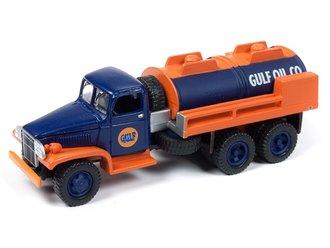 "1:87 1940's GMC 6x6 Tanker ""Gulf Oil"" (Blue/Orange)"