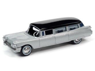 1:64 1959 Cadillac Hearse (Silver/Black)