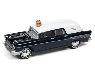 1957 Chevy Hearse (Metisse Blue/White)