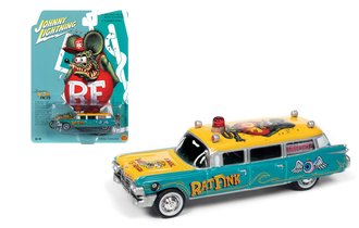 "1:64 1959 Cadillac Ambulance ""Rat Fink"" (Green/Yellow)"